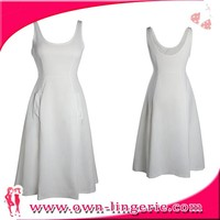 One piece sequin elegant rose patterns office women white dress sexy