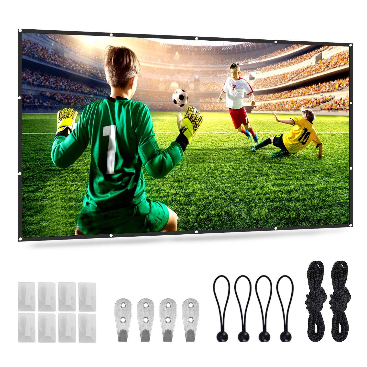 "120/"" Projector Screen 16:9 HD Home Cinema In//Outdoor Movie Projection LED LCD DD"