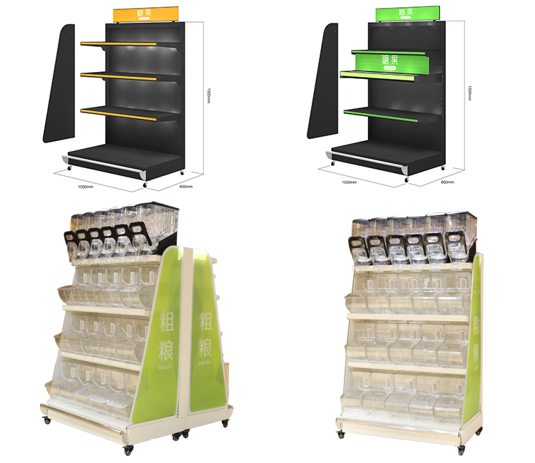 supermarket and store candy /cereal/ grain display fixture rack /shelf