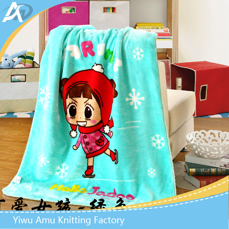 baby soft high quality china manufacture 100 % polyester blanket