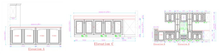 kitchen cabinet cad drawing