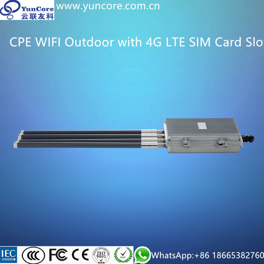 300Mbps 3G & 4G LTE Outdoor CPE WIFI with SIM Card Slot, Build in LTE Module