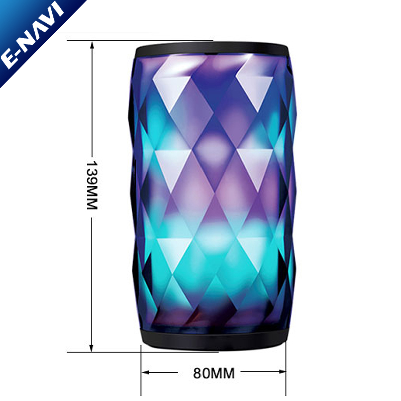 New Products 2018 Crystal Led Gadget Night Light BT <strong>Speaker</strong> Electric Bass Hifi Wall <strong>Speakers</strong>