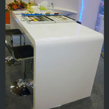 Durable Artificial Marble Round Plexiglass Table Top
