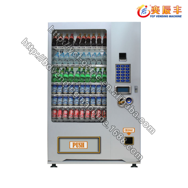 (YCF-VM001A-0610)New China products bottled water coin operated drink vending machine manufacturer
