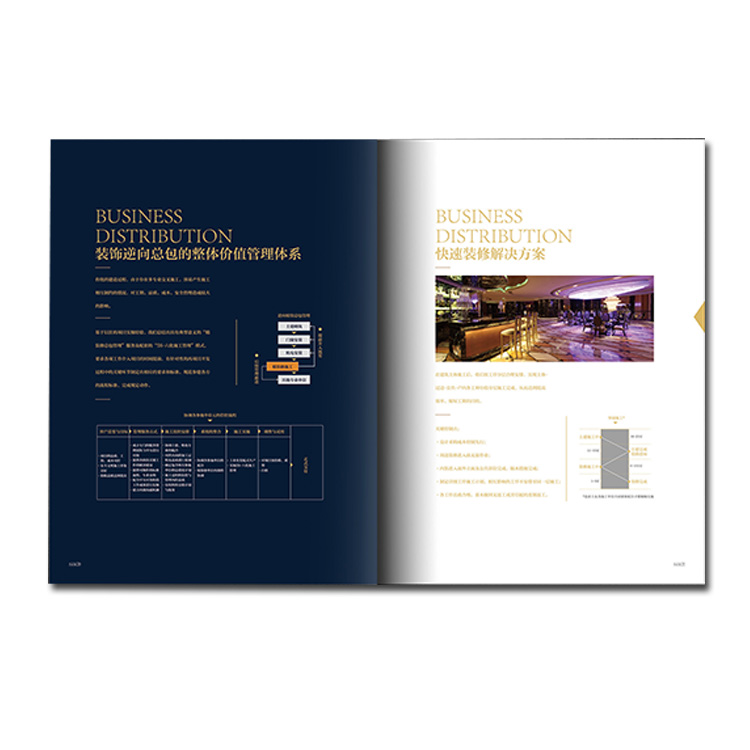 printing manufacturer  New design custom colorful cheap digital leaflet catalog