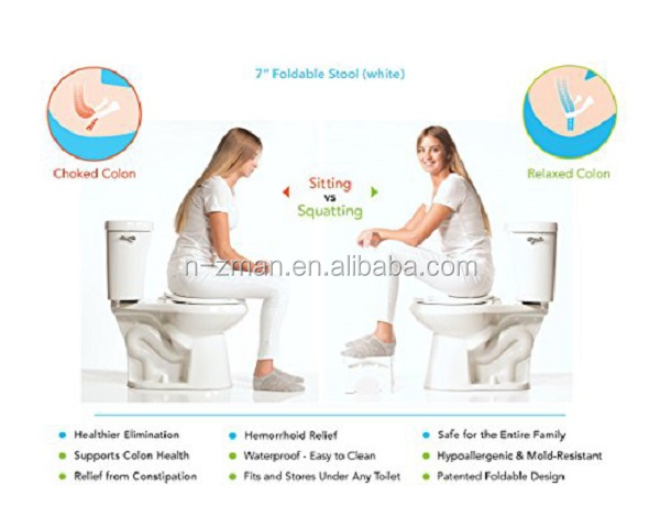 Nzman 7 Quot Folding Squatting Stool The Only Foldable Toilet