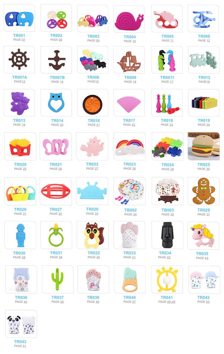 Großhandel Autismus Kauen Spielzeug, Baby Seneroy Spielzeug, Lebensmittel Grade Baby Silikon Beißring