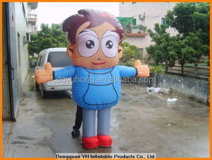 inflatable walking cartoon people can go inside