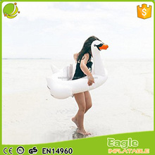 Comfortable Baby Swan PVC Inflatable Pool Float white inflatable floating swan