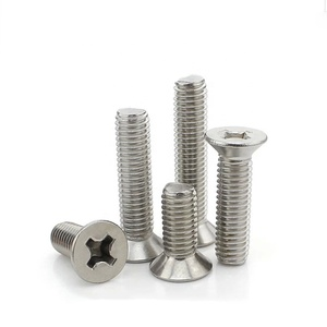 DIN 965 Stainless Steel 304 Countersunk Cross Head Screw for Machine M2-M8