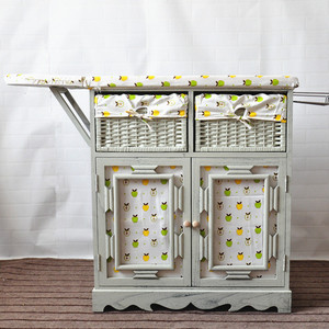 Antique Wooden Ironing Boards With Storage Cabinet