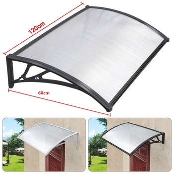 Diy Door Awning With Plastic Parts For Greenhouse And Garden Shed