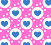 hearts printed flannel fabric for women pajamas