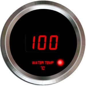 digital water temperature gauge with red blue display