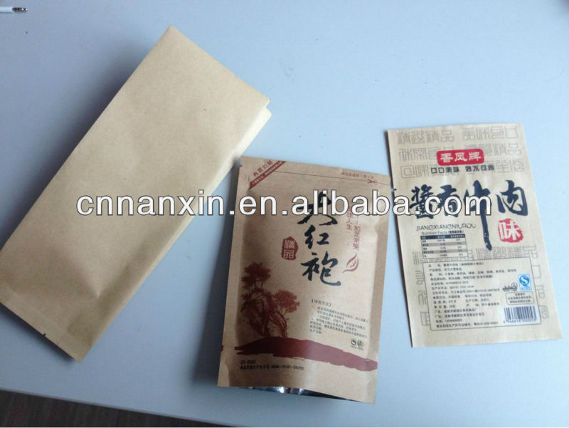 ecofriendly kraft laminated paper bag for food packaging