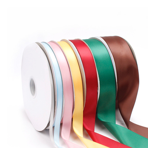 Wholesale Custom Solid Color 1/8''-2'' Inch 100% Polyester Double Face Satin Ribbon