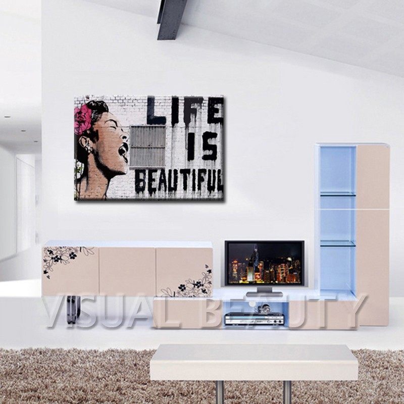 Life is beautiful Bansky Art Original