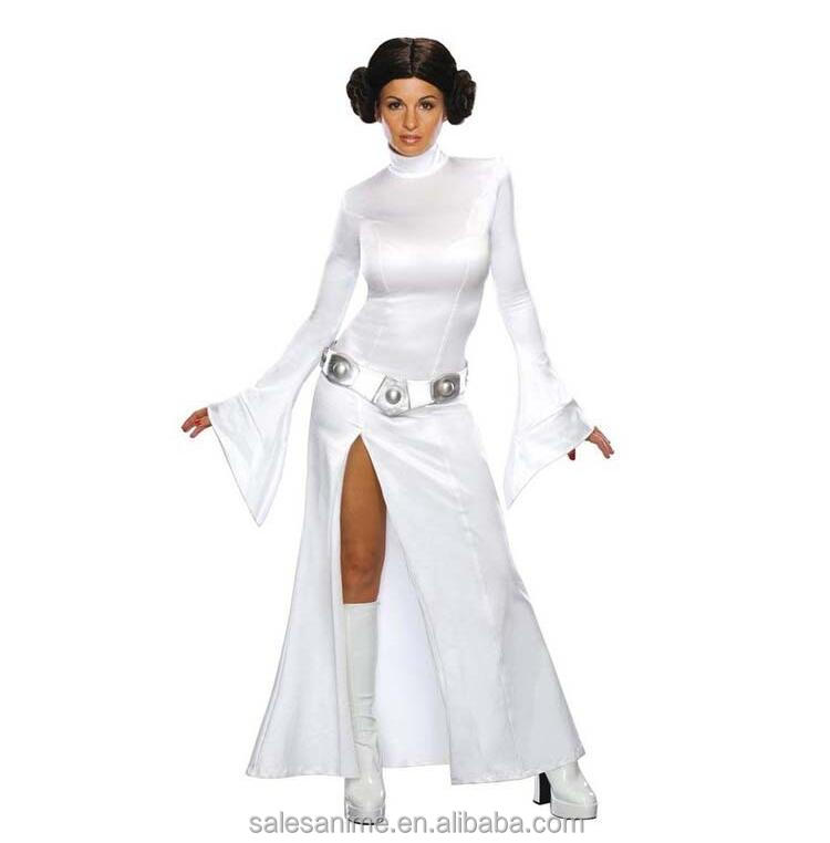 starwars costume Leia Princess Warrior Woman Fancy Dress party outfit women costume
