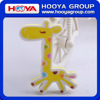 ST33676 Lovely Giraffe Shape for Kids High Quality Shinning Fun Erasers