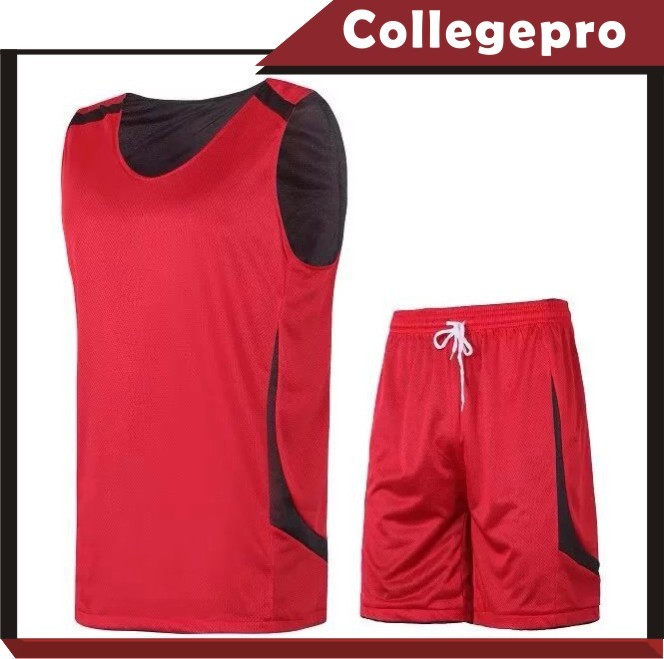 latest design custom basketball uniform many color short sleeve sublimation reversible basketball wear