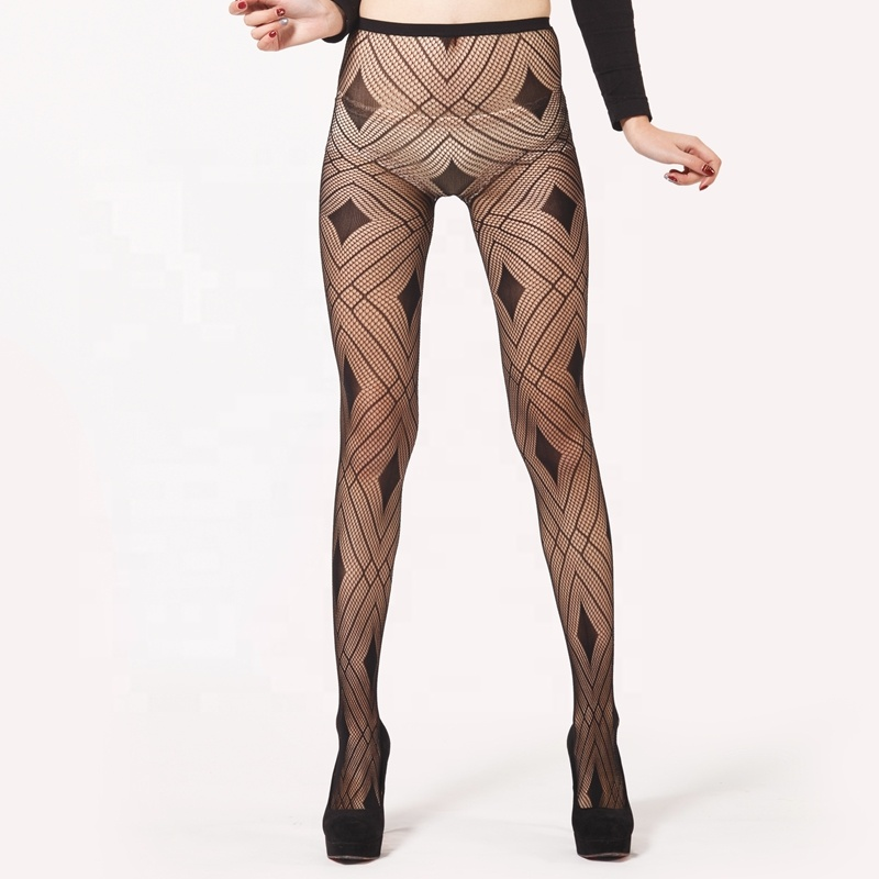 Nude Fishnet Seamed Pantyhose Seamed Fishnet 9015