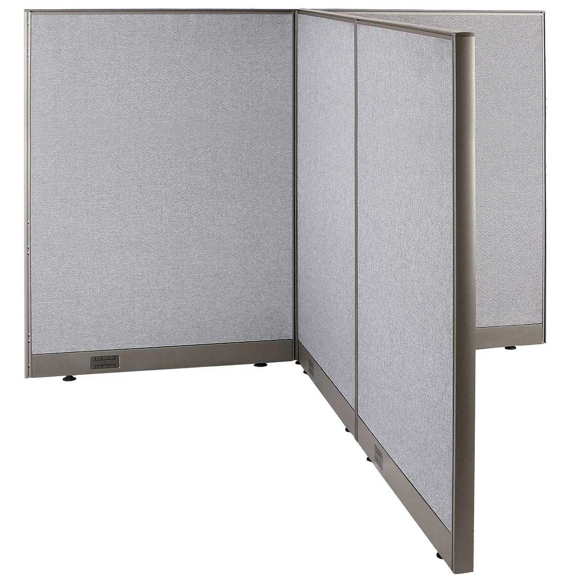 GOF T-Shaped Freestanding Partition 72d x 72w x 60h / Office, Room Divider