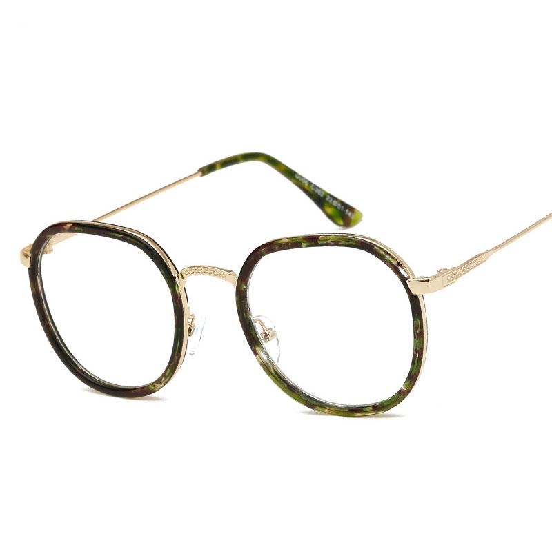 6cad17612 Mulheres do vintage Dos Homens Transparentes Óculos Moldura Redonda Óculos  Armações Prescrição ...