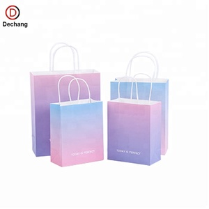 2018 Candy Fancy Recyclable Luxury Wholesale Kraft Paper Bag Manufacturer