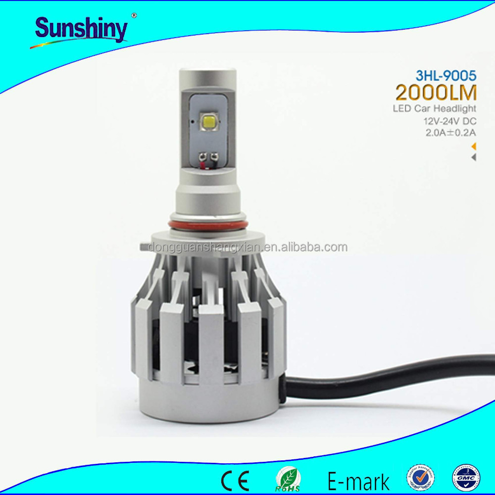 High quality suzuki alto headlight 2000lm 3hl 9005 9006 h7 h8 front headlights relay 12v for toyota