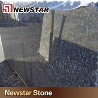 Chinese polished blue pearl granite bathroom vanity tops