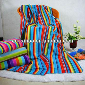 Cheap Polar Fleece Blanket Colorful Rainbow Throw Blanket Buy Beauteous Colorful Throw Blankets