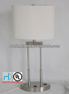 modern multifunction with usb connection simple style hotel table lamp