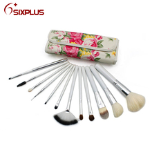 Japan cosmetics brushes 12 pcs / rose color cosmetic brushes / Craft handmade cosmetic makeup brushes