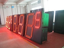 Outdoor 8/10/12/16/18/20/24/32inch Digital/time/temperature gas station LED petrol price sign display