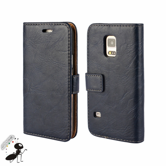 Luxury Retro Leather Mobile Phone Case for Samsung Galaxy S5 MINI Fashion Flip Wallet Case for Galaxy S5 MINI with Card Slot