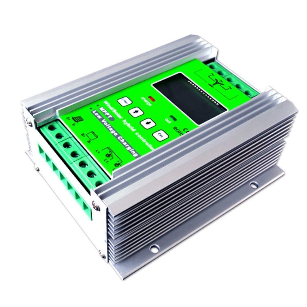 Dig Dog Bone 800W MPPT Wind Turbine Solar Charge Controller 500W Wind Turbine 300W Solar Charge Controller 12V/24V Auto Boost Hybrid Controller with Free Dump Load