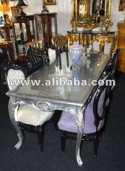 shinny plata neo barroco rococ lujo moderno fabuloso comedor living room sets egipto de muebles