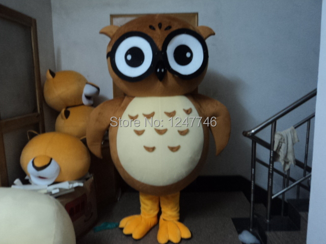 & High quality Owl Mascot Costume Adult - free shipping worldwide
