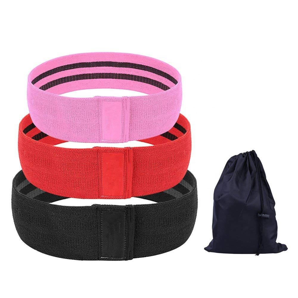 High Quality Customized Logo Hip Resistance Booty Exercise Circle Band Set for Gym Workout Squat