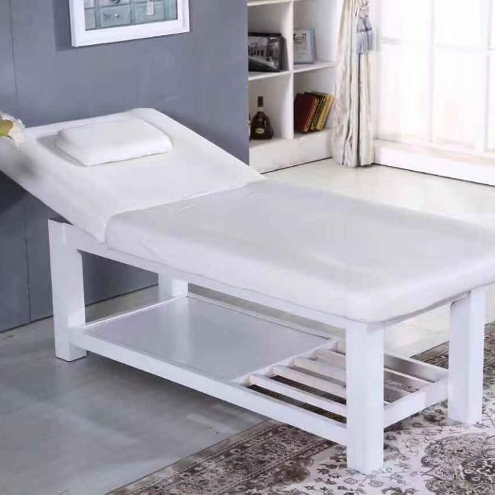 White Leather Simple Design Massage Spa Tattoo Facial Physical Table Bed with Air hole