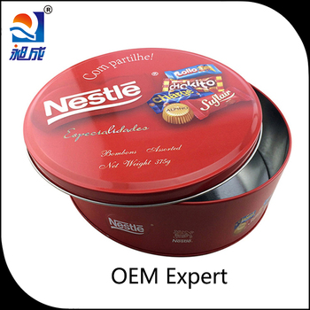 Factory Custom Round Metal Packaging Tin Box for Cookie