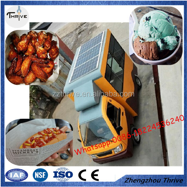 Low price street food vending trucks/coffee motorcycle food cart for sale