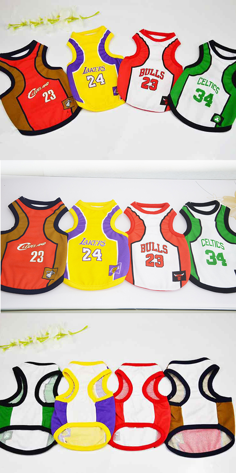 994d22769 Larger Small Basketball Polyester Mesh Net Dog Pet Cat T-Shirt Clothes  World cup