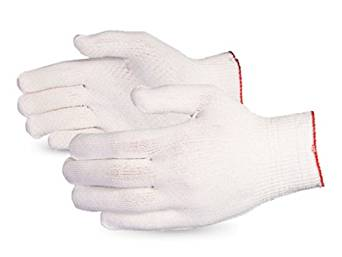 Superior SSGL/C13D Dyneema Lightweight Knit Glove with PVC Dots Palm, Work, Cut Resistant, 13 Gauge Thickness, Large, Gray (Pack of 1 Pair)