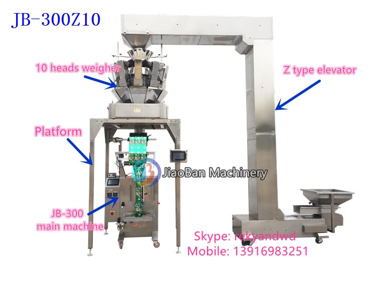 4 heads lineaire weger vullen en verpakkingsmachine voor suiker, koffie, rijst