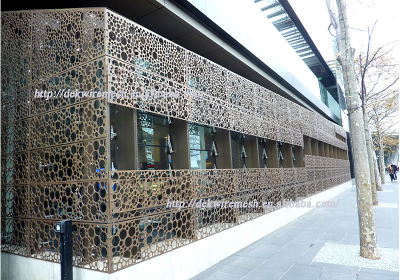 Architectural Perforated Metal Panels : Architecture perforated metal punched holes mesh