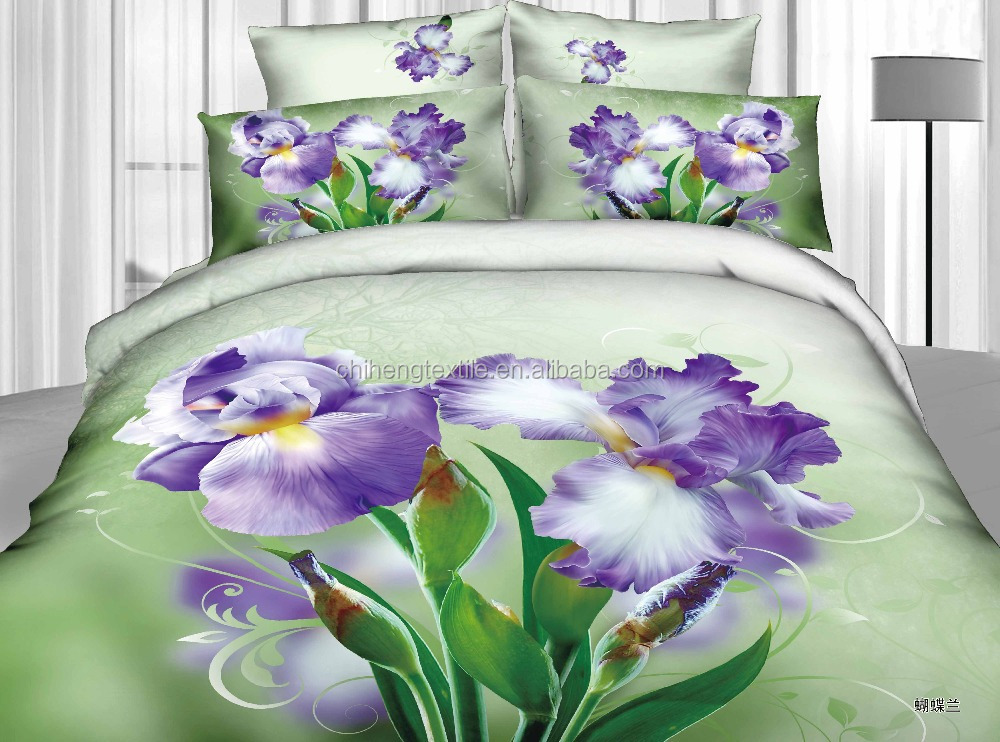 panel printing 3D floral Moth orchid bedding ,HD duvet cover
