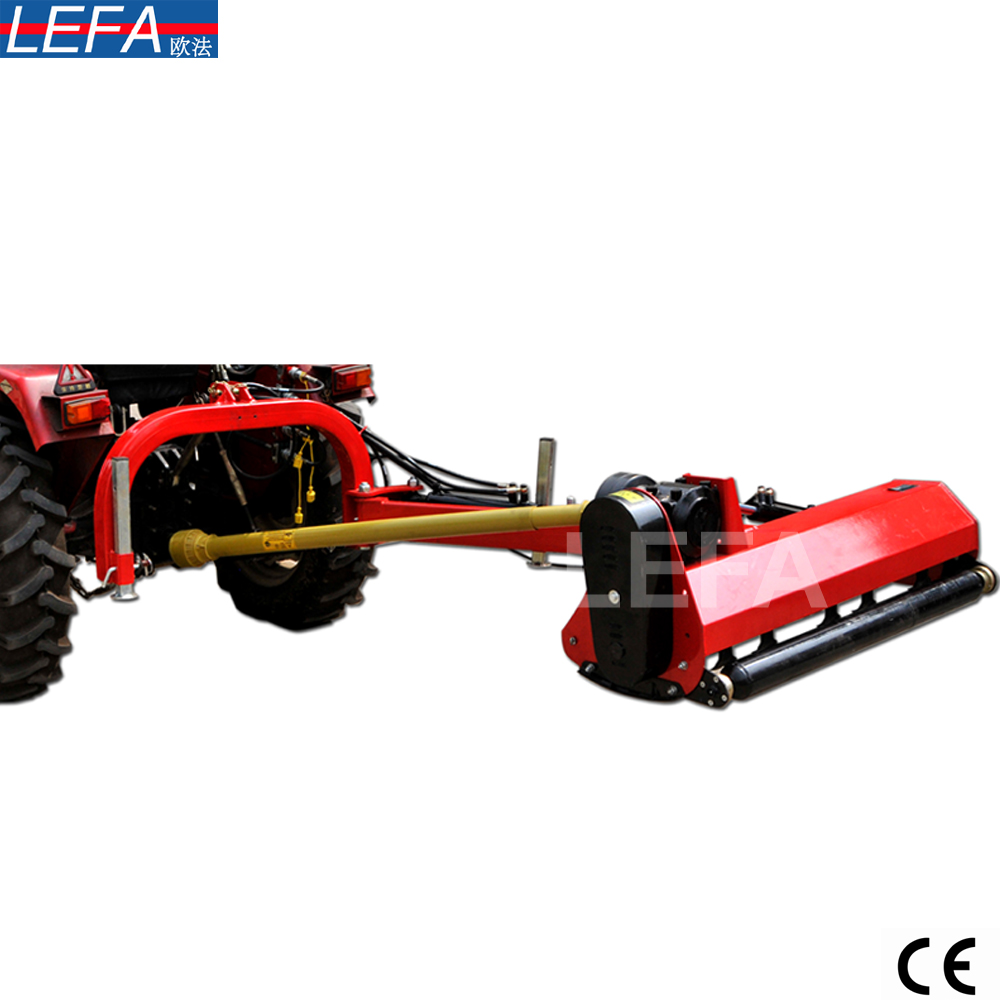 Tractor PTO drive hydraulic side flail mower