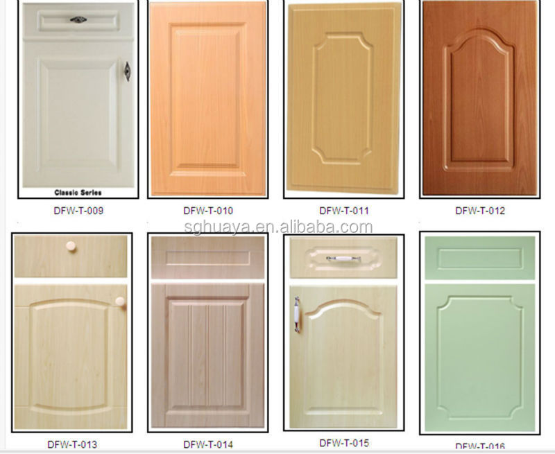 Pvc thermofoil kitchen cabinet door wood grain color buy for Kitchen doors south africa
